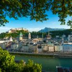 Kapuzinerberg in Salzburg im Sommer