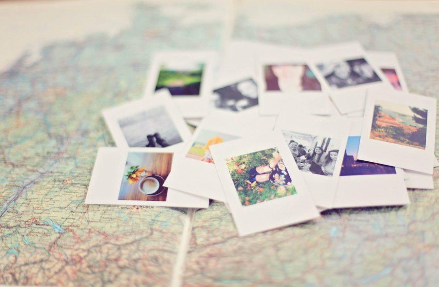 Landkarte mit Fotos