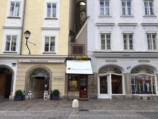 Das kleinste Haus Salzburgs am Alten Markt in der Salzburger Altstadt