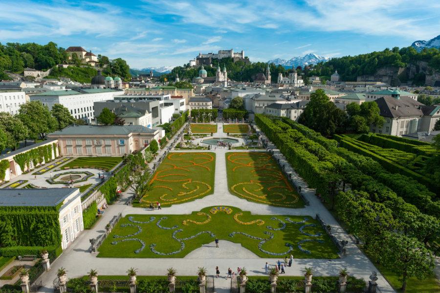 Übersichtsbild Schloss Mirabell Salzburg