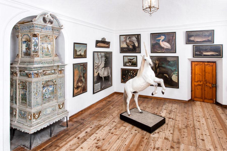 Fotografie aus der Dauerausstellung zu Markus Sittikus im Schloss Hellbrunn in Salzburg