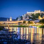 Salzburg Altstadt bei Nacht