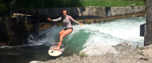 Surfen am Almkanal