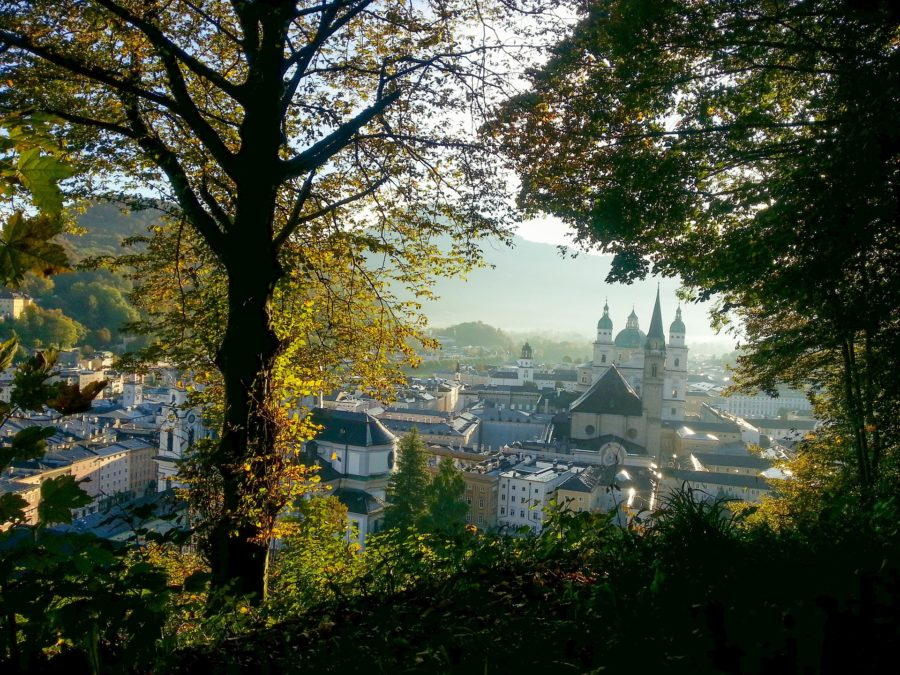 Der goldene Herbst in der Mozartstadt.