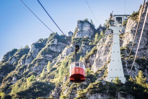 Predigtstuhlbahn mit Bergblick